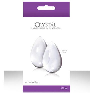 NS Novelties Crystal Kegel Eggs, прозрачный Вагинальные шарики из стекла, большие