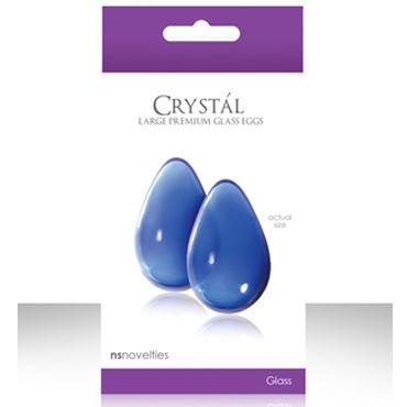 NS Novelties Crystal Kegel Eggs, голубой Вагинальные шарики из стекла, большие
