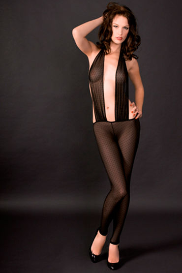 Maison Close, боди Rue Des Demoiselles Catsuit Triangle В виде чулка на тело maison close rue des demoiselles guepiere corset