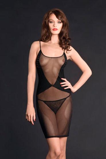 Maison Close, ночная сорочка Nuit Blanche Nuisette Прозрачная maison close rue des demoiselles guepiere corset