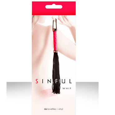 NS Novelties плетка Sinful Whip Многохвостая orion sextreme penisplug mit eichelring серебристый