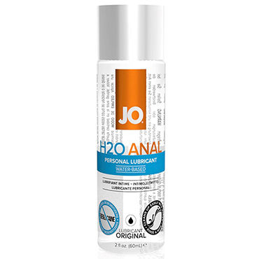 System JO Anal H2O, 60 мл Анальный лубрикант на водной основе bundle package of fujikos silver anal probe waterproo and jo h20 4 5oz