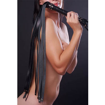 Sitabella плеть, черная С длинными хвостами ивыь арсенал дизайнерская плеть серебристая х