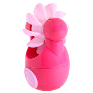 Sqweel Go Pink Карманный клиторальный стимулятор вибратор rubber pink