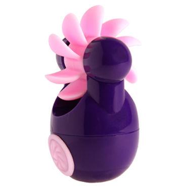 Sqweel Go Purple Карманный клиторальный стимулятор contex relief презервативы c кольцами и пупырышками