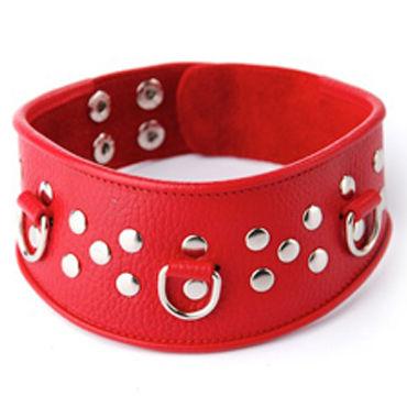 Sitabella ошейник, красный С кольцами для фиксации ouch leather circle tipped crop розовый ежик