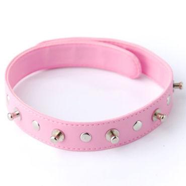 Sitabella ошейник, розовый С заклепками и шипами sitabella ошейник белый узкий с шипами