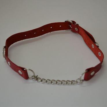 Sitabella кляп, красный С металлической цепочкой sitabella кляп черный для женщин и мужчин