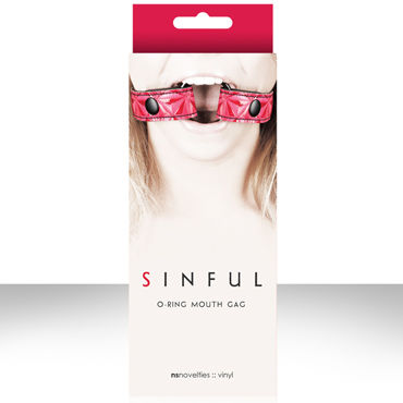 NS Novelties Sinful O-Ring Mouth Gag, розовый, Расширитель для рта