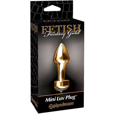 Pipedream Gold Mini Luv Plug Анальная пробка с большим кристаллом презерватив luxe exclusive седьмое небо 1