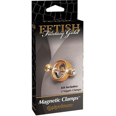 Pipedream Gold Magnetic Clamps Стильные зажимы для сосков корсаж и трусики avanua eternity corset красно черные s m