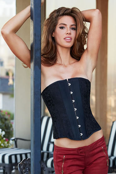 Baci Essential Satin & Lace Corset Корсет с кружевными вставками f baci essential satin amp leather corset