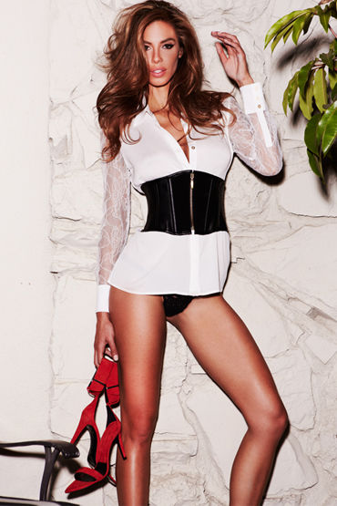 Baci Suede and Leather Cincher Корсет с замшевыми вставками f baci essential satin amp leather corset