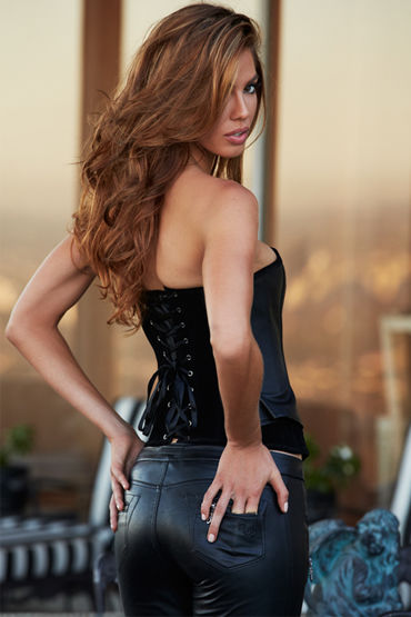 Baci Suede and Leather Corset - фото, отзывы