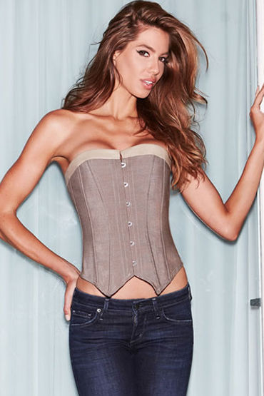 Baci Suit Inspired Waistcoat Corset Корсет в стиле жилет f baci essential satin amp leather corset