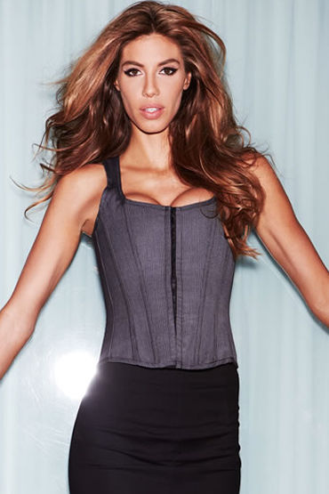 Baci Suit Inspired Tank Corset Корсет в костюмном стиле н baci essential satin amp leather corset