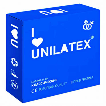 Unilatex Natural Plain Презервативы классические unilatex multifrutas