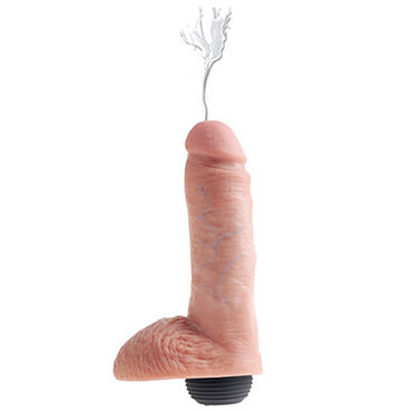 Pipedream Squirting King Cock with Balls, 20.3см - фото, отзывы