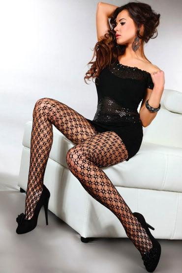 купить Livia Corsetti Chiba, черные Сексуальные ажурные колготки дешево