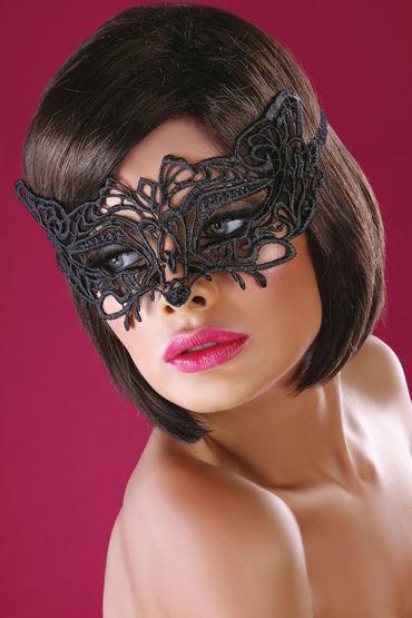 LivCo Corsetti Mask Model 13, черная Маска из ажурного кружева