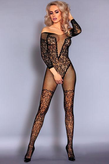 LivCo Corsetti Nurya, черный Боди-комбинезон с кружевным рисунком livco corsetti degana черные колготки из сетки с вертикальным рисунком