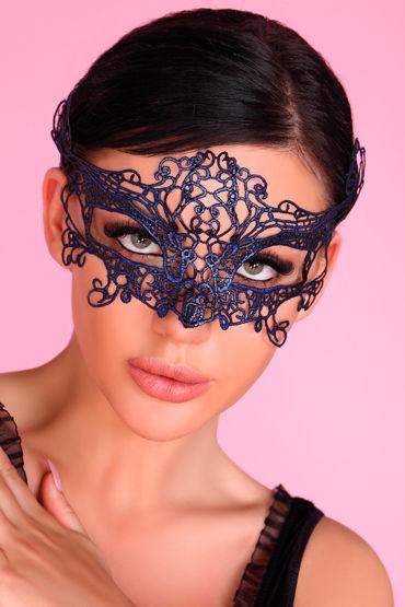 LivCo Corsetti Mask Model 2 Blue, синяя Ажурная маска на глаза